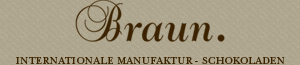 Braun. Internationale Manufaktur-Schokoladen